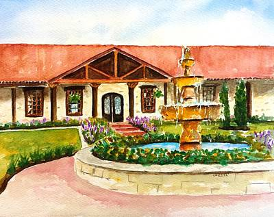 Painting - The Springs Houston by CarlinArt Watercolor