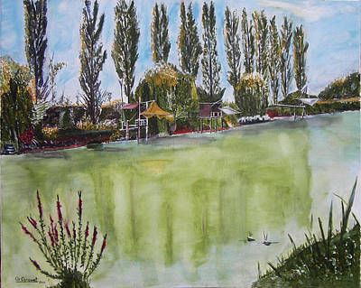 Charente Maritime Painting - The Squares by Kapy Art
