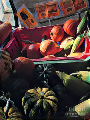 Photograph - The Squash Bin - After The Harvest by Miriam Danar