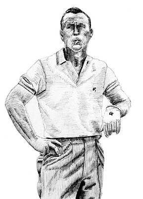 Us Open Drawing - The Squint by Ron Enderland