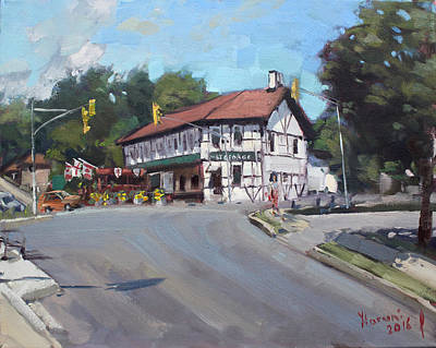 Street Car Painting - The St George Pub by Ylli Haruni