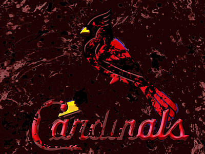Grapefruit Mixed Media - The St Louis Cardinals 6a by Brian Reaves