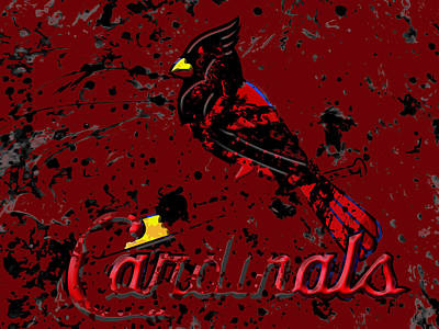 Grapefruit Mixed Media - The St Louis Cardinals 6b by Brian Reaves