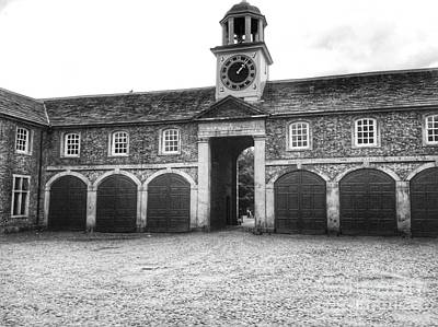 Dunham Massey Photograph - The Stables Bw by Joan-Violet Stretch