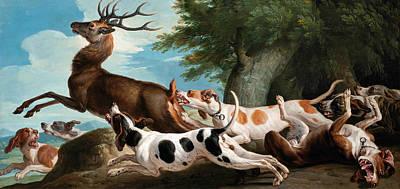 The Stag Hunt Art Print