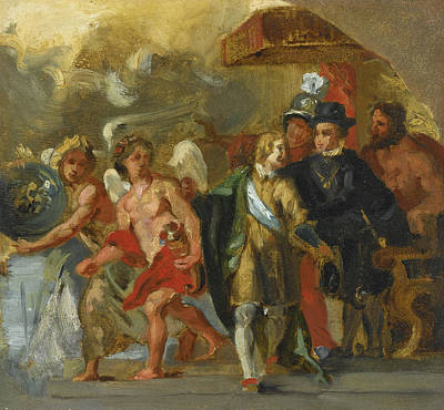 Painting - The Stage Of Archduchess Isabella by Eugene Delacroix