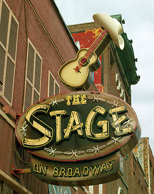 Photograph - The Stage On Broadway Nashville Tennessee by Carol Highsmith