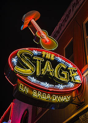Nashville Sign Photograph - The Stage On Broadway by Stephen Stookey