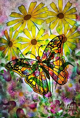 Digital Art - The Stained Glass Butterfly by Maria Urso