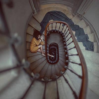The Stair Romance Art Print by Anka Zhuravleva
