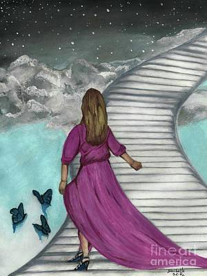 Painting - The Stairs Faith Art by Saribelle Rodriguez