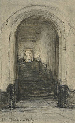 The Stairs In The Prinsenhof In Delft, Where In 1584 Prince William I Was Murdered  Art Print