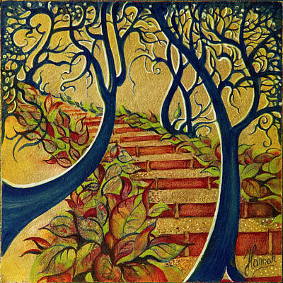 Painting - The Stairs To Now by Anna Ewa Miarczynska