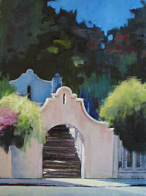 Painting - The Stairs To Rod's by Richard Willson