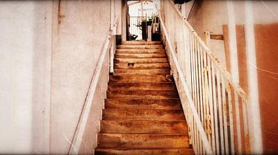 The Stairwell Between Art Print