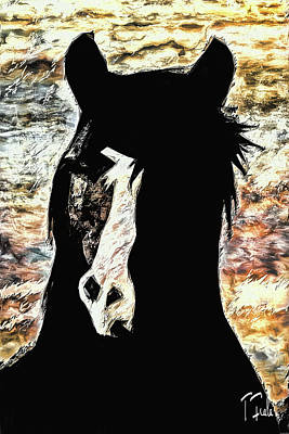 Digital Art - The Stallion At Madrone by Terry Fiala