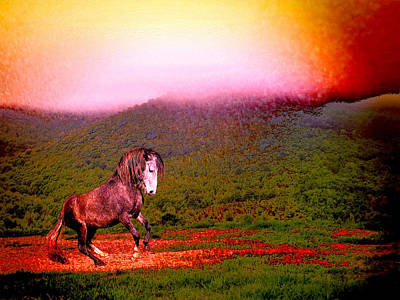 The Stallion Has Faith Art Print by Patricia Keller