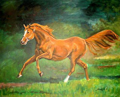 The Stallion-horse Art Painting  Art Print