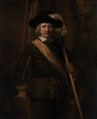 Painting - The Standard Bearer  by Rembrandt