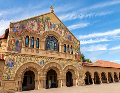 Photograph - The Stanford Chapel by Jonathan Nguyen
