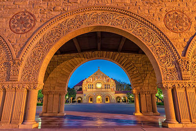 Church Fixture Photograph - The Stanford Church 2 by Jonathan Nguyen