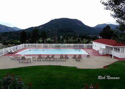 The Stanley Hotel Pool Art Print