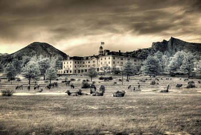 Photograph - The Stanley With Elk Ir by G Wigler