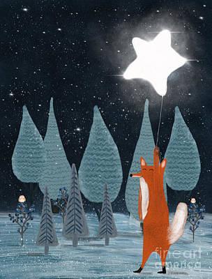 Painting - The Star Balloon by Bleu Bri