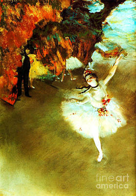 The Star By Edgar Degas Art Print by Pg Reproductions