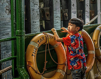 Photograph - The Star Ferry Ride by Endre Balogh
