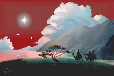 Painting - The Star Of Bethlehem by Ron Chambers