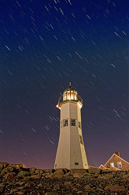 The Star Of Old Scituate Light Art Print