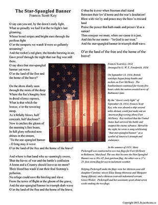 The Star-spangled Banner Original by Jacob Cane
