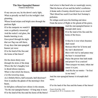 The Star-spangled Banner - Square Original by Jacob Cane