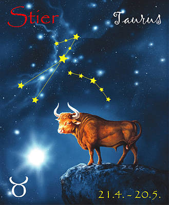 Sky Painting - The Star Taurus by Johannes Margreiter