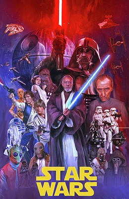 Comics Mixed Media - The Star Wars by Mark Spears