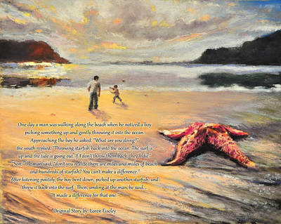 Pastel - The Starfish by Susan Jenkins