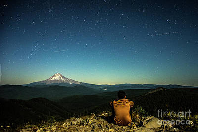 Mt Hood Digital Art - The Stargazer by Zach Deets