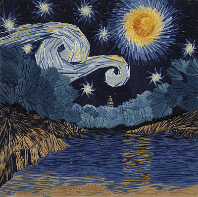 The Starry Night At Barton Springs Art Print by Barbara Lugge