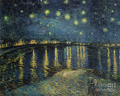 Reflections Painting - The Starry Night by Vincent Van Gogh