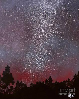 Painting - The Starry Night by Wonju Hulse