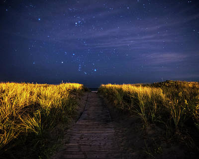 Photograph - The Starry Path To Good Harbor Beach In Gloucester, Ma by Toby McGuire