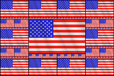Patriotism Drawing - The Stars And Stripes 2 by Mike McGlothlen