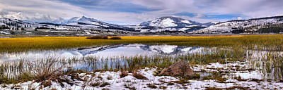 Photograph - The Start Of Spring At Swan Lake Flats by Adam Jewell