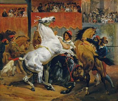 The Start Of The Race Art Print by Horace Vernet