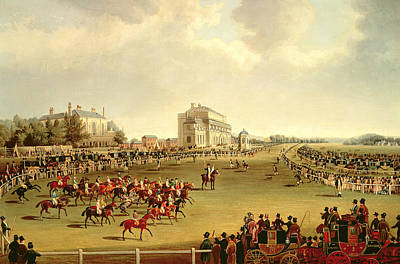 Jockey Painting - The Start Of The Saint Leger by James Pollard