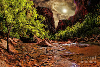 Photograph - The Start Of Zion Riverside Walk by Blake Richards