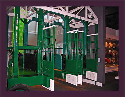 Horse In The Run Photograph - The Starting Gate Display In The Kentucky Derby Museum by Marian Bell