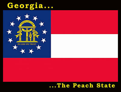 Painting - The State Flag Of Georgia by Floyd Snyder