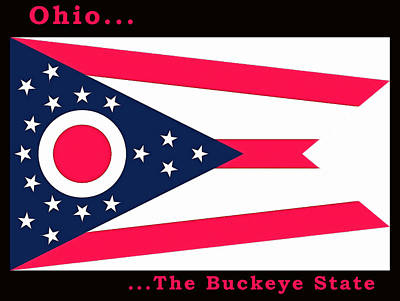 Painting - The State Flag Of Ohio by Floyd Snyder